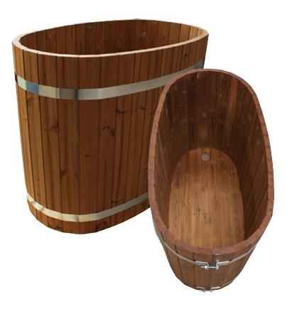 Готовая овальная купель для бани на 2 человека