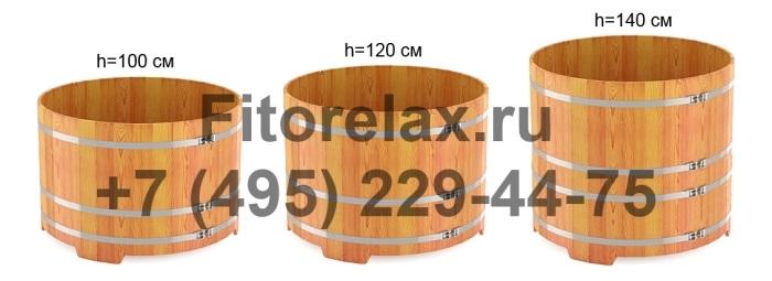 Высота круглой купели 100, 120, 140 см