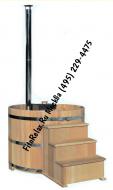 Купель Фурако 150см с подогревом + погружная дровяная печь